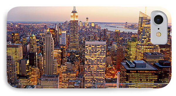 IPhone Case featuring the photograph New York City by Luciano Mortula