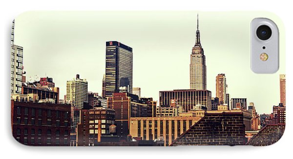 New York City Rooftops And The Empire State Building Phone Case by Vivienne Gucwa