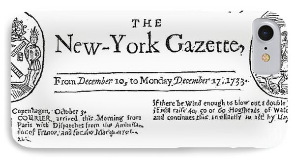 New York Gazette, 1733 Phone Case by Granger