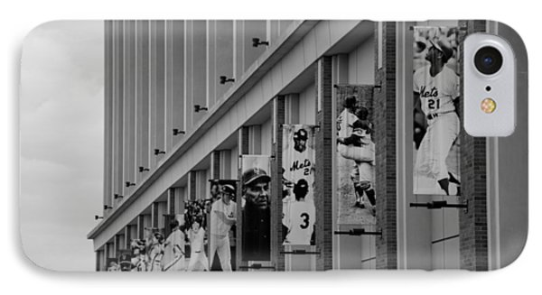 New York Mets Of Old  In Black And White Phone Case by Rob Hans
