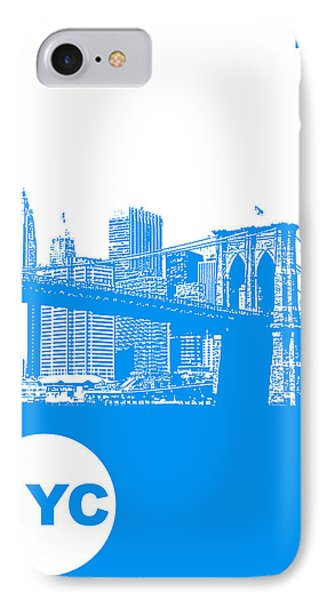 New York Poster IPhone Case by Naxart Studio