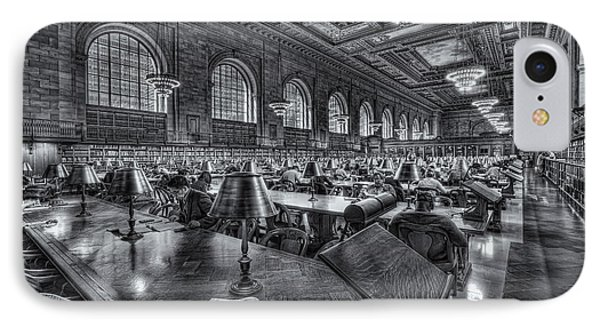 New York Public Library Main Reading Room Vi Phone Case by Clarence Holmes
