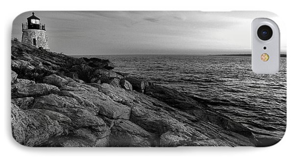 Newport Rhode Island-castle Hill Black And White IPhone Case