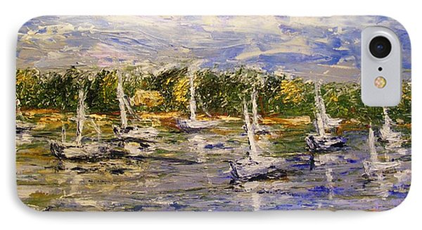 IPhone Case featuring the painting Newport Views by Karen  Ferrand Carroll