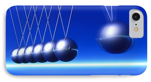 Newton's Cradle In Motion Phone Case by Pasieka
