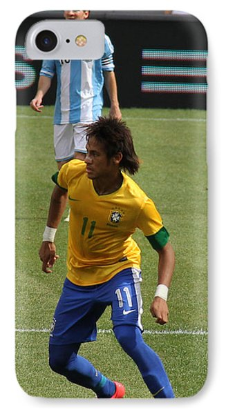 Neymar And Messi IPhone Case by Lee Dos Santos