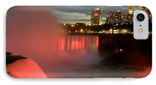 Niagara Falls At Night Phone Case by Mark J Seefeldt