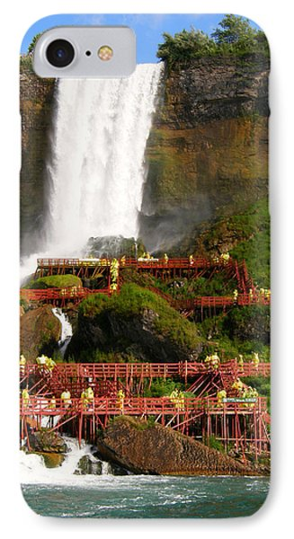 IPhone Case featuring the photograph Niagara Falls Cave Of The Winds by Mark J Seefeldt