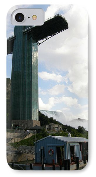 IPhone Case featuring the photograph Niagara Falls Observation Platform And Maid Of The Mist Tour by Mark J Seefeldt