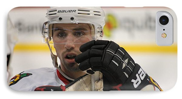 Nick Leddy - Chicago Blackhawks Phone Case by Melissa Goodrich