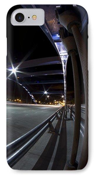 Night Fisheye Bridge Scene Phone Case by Sven Brogren