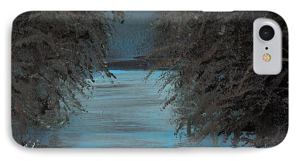 IPhone Case featuring the painting Night In The Bayou by Alys Caviness-Gober