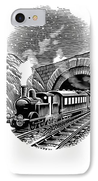 Night Train, Artwork Phone Case by Bill Sanderson
