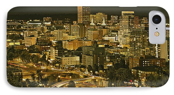 Night View Of Portland City Downtown Phone Case by Tatiana Boyle