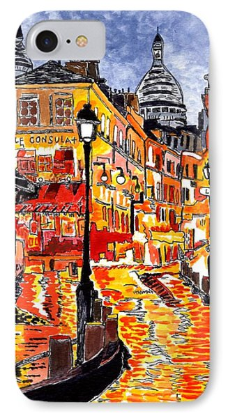 Nighttime In Paris IPhone Case by Connie Valasco