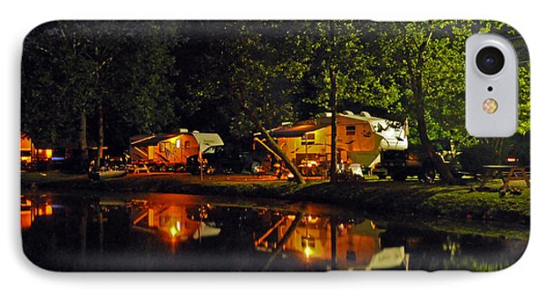 Nighttime In The Campground IPhone Case by Kay Lovingood