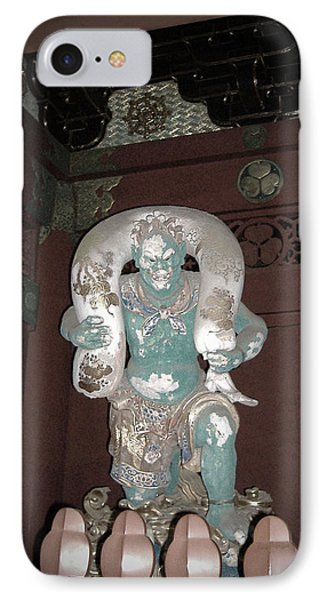 Nikko Green Figure IPhone Case by Naxart Studio