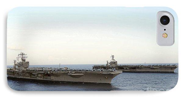 Nimitz-class Aircraft Carriers Transit Phone Case by Stocktrek Images