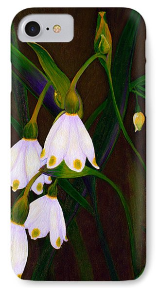 IPhone Case featuring the painting Nina's Snowflake Bells by Jodi Terracina