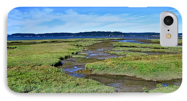 Nisqually Estuary At Low Tide Phone Case by Sean Griffin