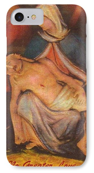 IPhone Case featuring the tapestry - textile No Greater Love Ever by Ray Tapajna