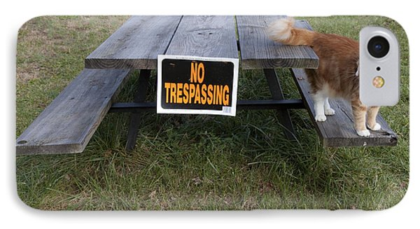 No Trespassing IPhone Case by Jeannette Hunt