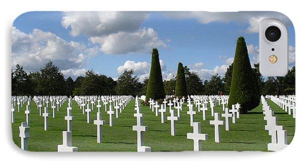 Normandy American Cemetery Phone Case by Carol Groenen