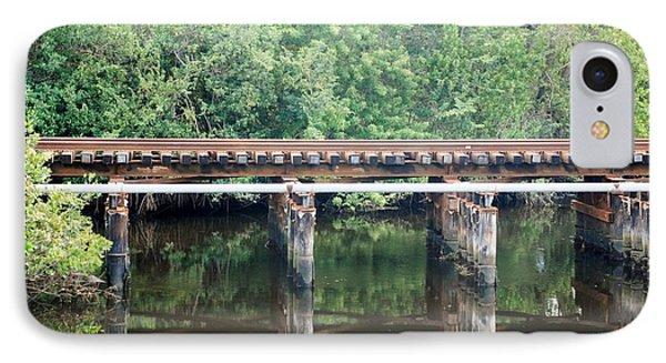 North Fork River Bridge Phone Case by Rob Hans
