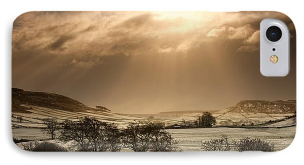 North Yorkshire, England Sun Shining Phone Case by John Short