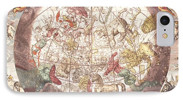 Northern Boreal Hemisphere From The Celestial Atlas IPhone Case by Pieter Schenk