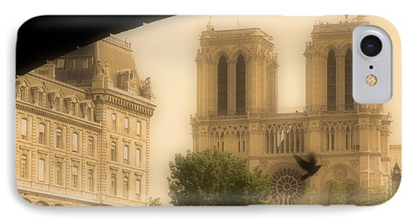 Notre Dame Cathedral Viewed Phone Case by John Sylvester