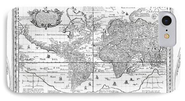 Nova Totius Terrarum Orbis Geographica Ac Hydrographica Tabula IPhone Case by Dutch School