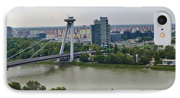 Novy Most Bridge - Bratislava Phone Case by Jon Berghoff