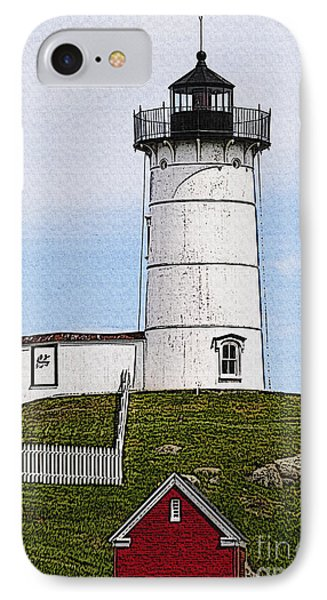 Nubble Lighthouse- Canvas IPhone Case