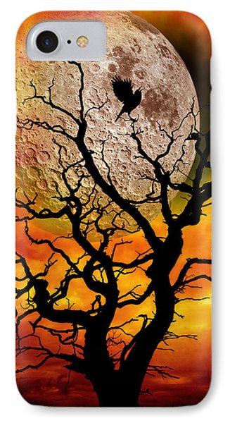 Nuclear Moonrise Phone Case by Meirion Matthias