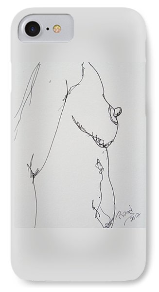 Nude Breast Study IPhone Case by Rand Swift