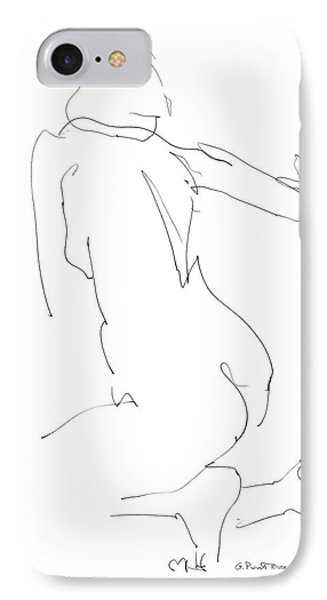IPhone Case featuring the drawing Nude Female Drawings 8 by Gordon Punt