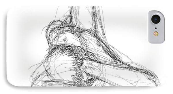 IPhone Case featuring the drawing Nude Male Sketches 3 by Gordon Punt