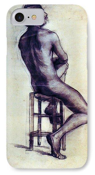 Nude Man Sketch Phone Case by Sumit Mehndiratta