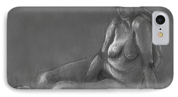 Nude Of A Real Woman In Black IPhone Case by Rachel Hershkovitz