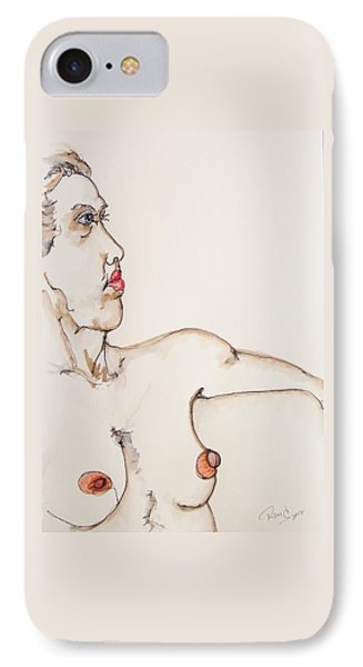 Nude On Chair IPhone Case by Rand Swift
