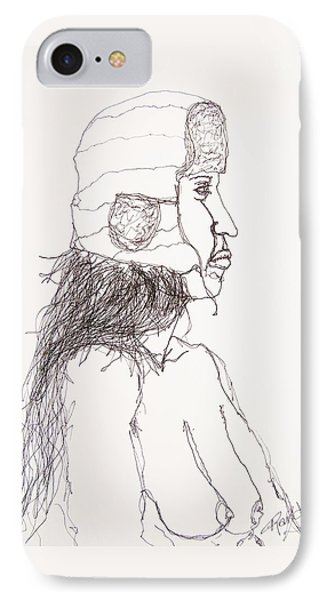 Nude With Hat On Bus IPhone Case by Rand Swift