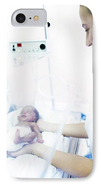 Nurse And Premature Baby IPhone Case by