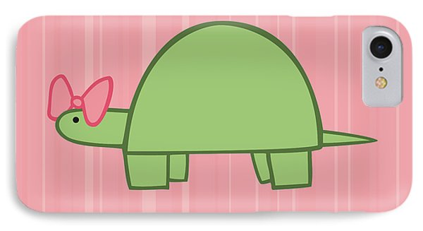Nursery Art Girls Turtle IPhone Case by Christy Beckwith