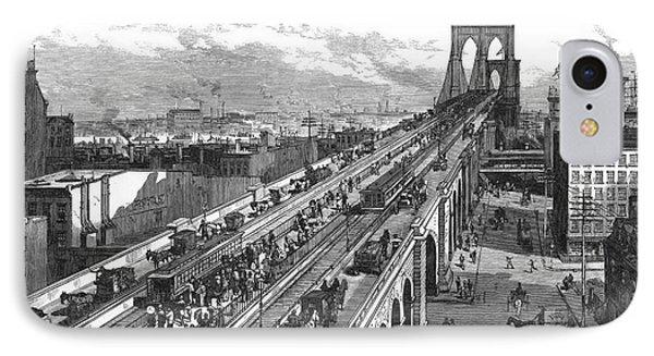 Ny: Brooklyn Bridge, 1883 Phone Case by Granger