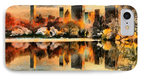 Nyc At Sunset Phone Case by Anthony Caruso
