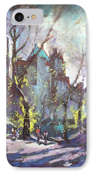 Nyc Central Park Controluce Phone Case by Ylli Haruni