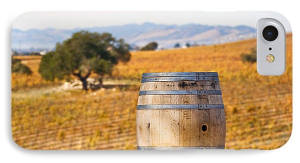 Oak Barrel At Vineyard Phone Case by David Buffington