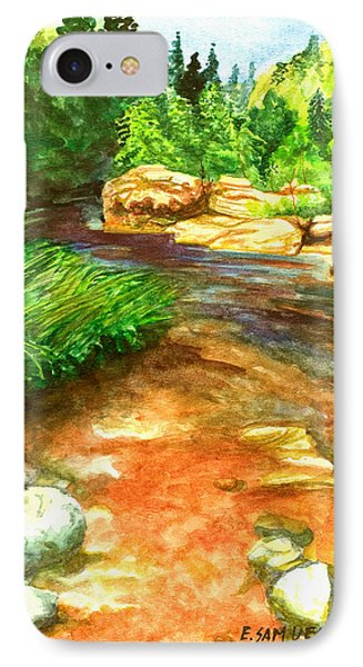 IPhone Case featuring the painting Oak Creek Red by Eric Samuelson