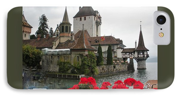 Oberhofen Castle Switzerland Phone Case by Marilyn Dunlap
